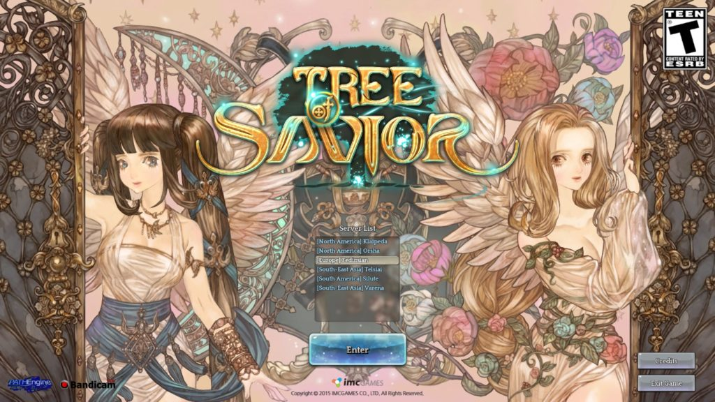 Tree of Savior - Menu Główne