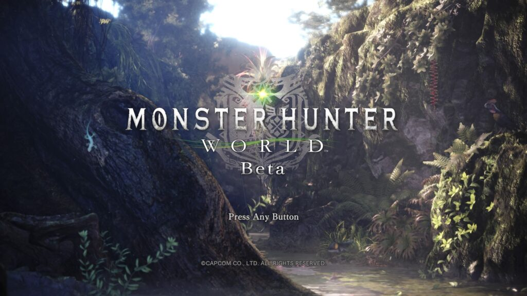 Ekran Startowy Monster Hunter: World